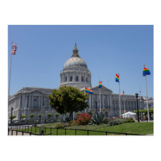 San Francisco City Hall Pride Postcard
