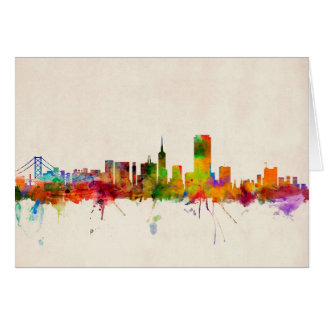 San Francisco City Skyline Card
