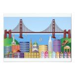 San Francisco City Skyline Drawing Invitation