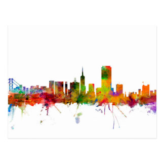 San Francisco City Skyline Postcard