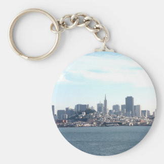 San Francisco City View from the Bay Basic Round Button Key Ring