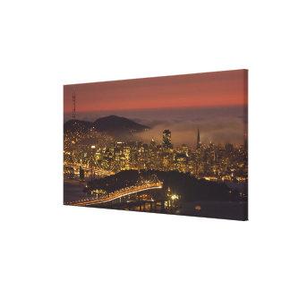 San Francisco Cityscape Gallery Wrap Canvas