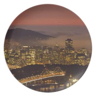 San Francisco Cityscape Plate