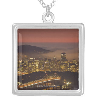 San Francisco Cityscape Silver Plated Necklace