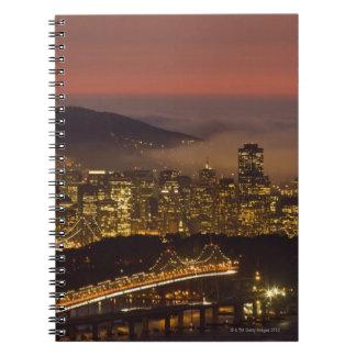 San Francisco Cityscape Spiral Note Book