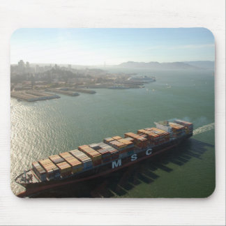 San Francisco Container Ship Mouse Mat