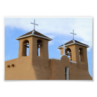 San Francisco de Asis Mission Bell Towers, Taos Photograph