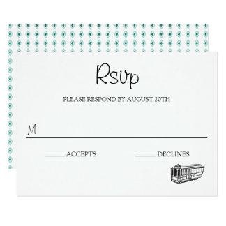 San Francisco Destination Wedding RSVP Card