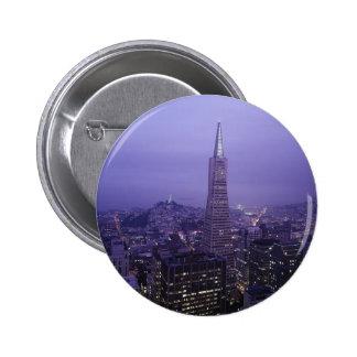 San Francisco Downtown 6 Cm Round Badge