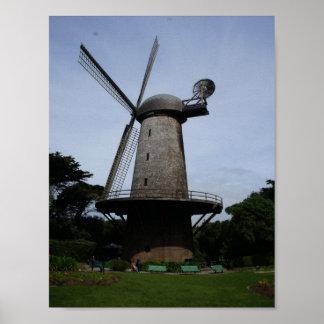 San Francisco Dutch Windmill Poster