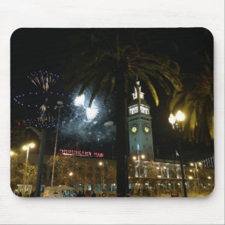 San Francisco Ferry Building Fireworks Mousepad