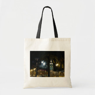 San Francisco Ferry Building Fireworks Tote Bag