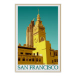 San Francisco Ferry Building - Pop Art Poster