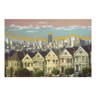 San Francisco Fine Art - Victorian Alamo Square Posters