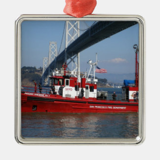 San Francisco Fire Boat Christmas Ornament