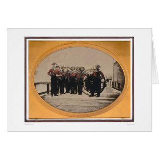 San Francisco Fire Brigade on Meiggs Wharf (40090) Greeting Card