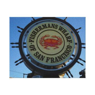 San Francisco Fishermans Wharf Canvas