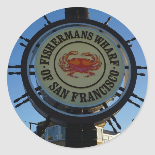 San Francisco Fishermans Wharf Stickers
