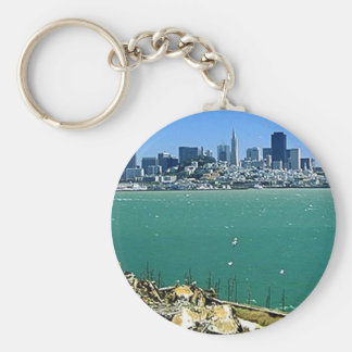 San Francisco from Alcatraz Basic Round Button Key Ring