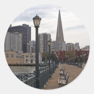San Francisco from Pier 39 Round Sticker