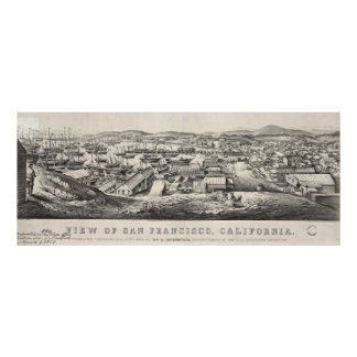 San Francisco from Telegraph Hill 1850 Poster
