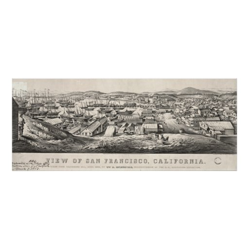 San Francisco from Telegraph Hill 1850 Print
