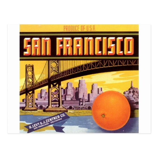 san francisco fruit postcard