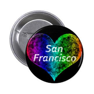 San Francisco Gay (Chapa San Francisco Gay) 6 Cm Round Badge