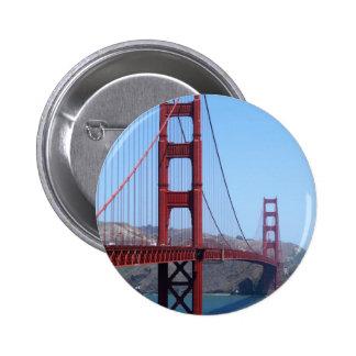 San Francisco Golden Gate 6 Cm Round Badge