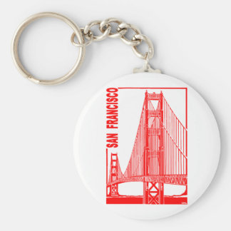 San Francisco-Golden Gate Bridge Basic Round Button Key Ring