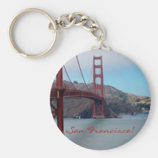San Francisco, golden gate bridge Basic Round Button Key Ring