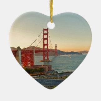 San Francisco Golden Gate Bridge Ceramic Heart Decoration