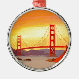 San Francisco Golden Gate Bridge Christmas Ornament