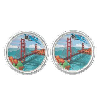 San Francisco Golden Gate Bridge fly past Cufflinks