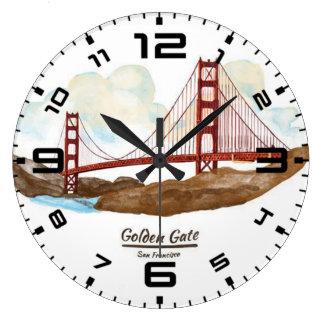San Francisco Golden Gate Bridge Large Clock