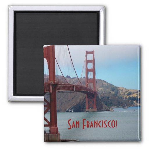 San Francisco, golden gate bridge Fridge Magnet