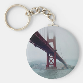 San Francisco Golden Gate Bridge - Postcard Basic Round Button Key Ring