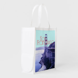 San Francisco Golden Gate Bridge Reusable Grocery Bag