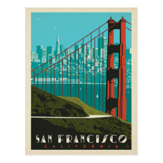 San Francisco | Golden Gate Bridge Skyline Postcard