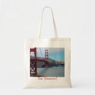 San Francisco, golden gate bridge Budget Tote Bag