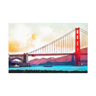 San Francisco Golden Gate Bridge. USA, America Canvas Print