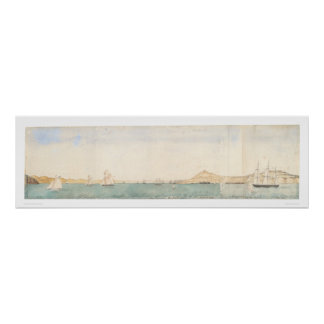 San Francisco harbor, California (1244) Poster