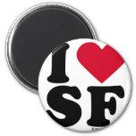 "SAN FRANCISCO - ""I LOVE SF"" ""I LOVE SAN FRANCISCO"" REFRIGERATOR MAGNETS"