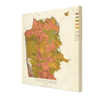San Francisco intensity of earthquake Canvas Print