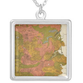 San Francisco intensity of earthquake Silver Plated Necklace