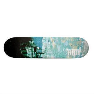 San Francisco Island_cyan 21.6 Cm Old School Skateboard Deck