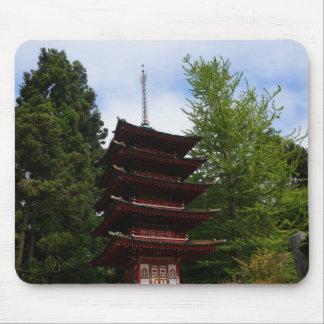 San Francisco Japanese Tea Garden Pagoda Mousepad