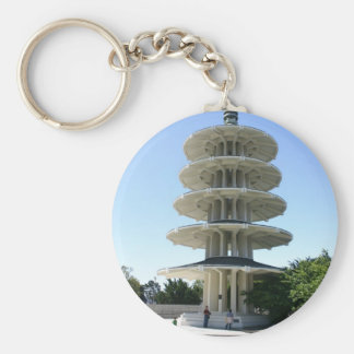 San Francisco Japantowns Peace Tower Basic Round Button Key Ring