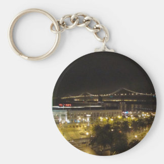 San Francisco Basic Round Button Key Ring