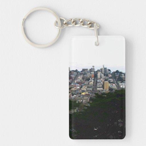 San Francisco Rectangular Acrylic Keychains